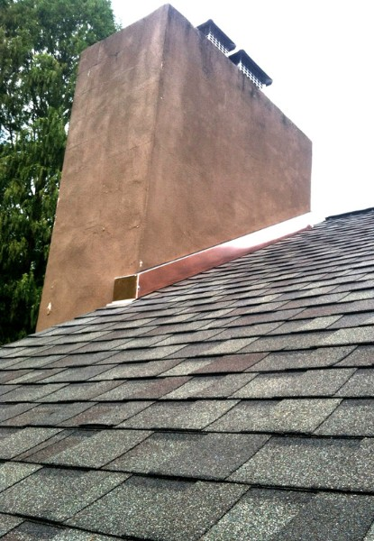 Copper Chimney Flashing Repairs