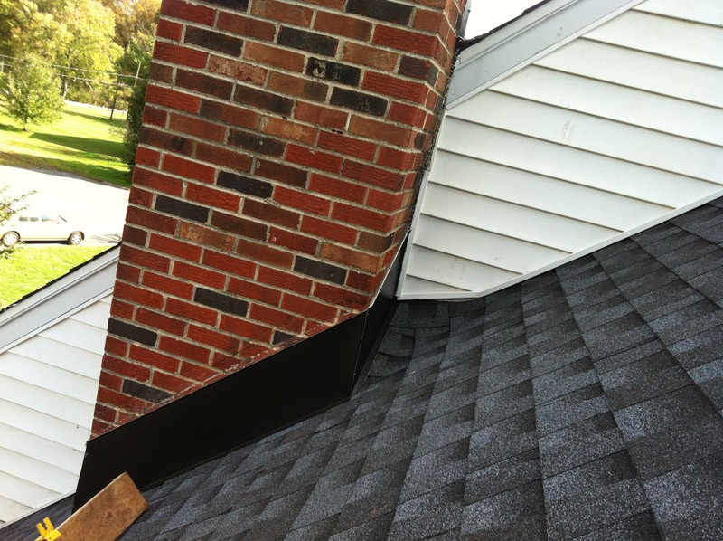 Replacement of flashing, sealing