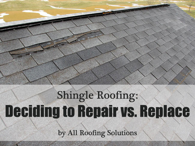 Residential Shingle Roofing: Deciding to Repair vs. Replace