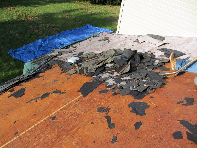 Old Roofing Material Removal