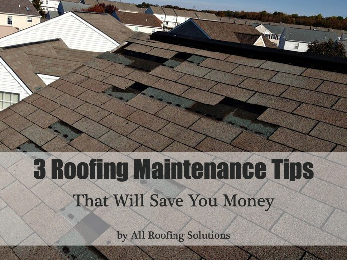 3 Roofing Maintenance Tips That Will Save You Money