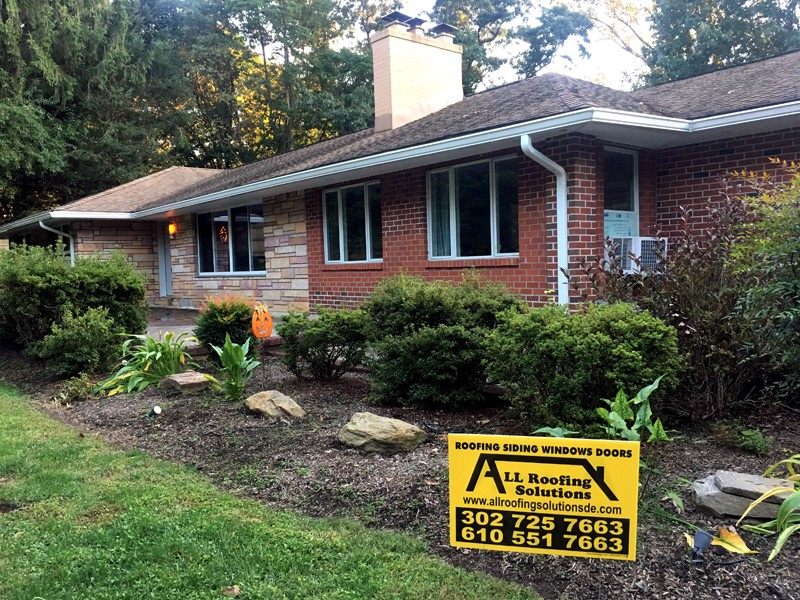 New Vinyl Invisible Vented Soffit, Gutters, and Soffit Lights Installation in Media PA 19063